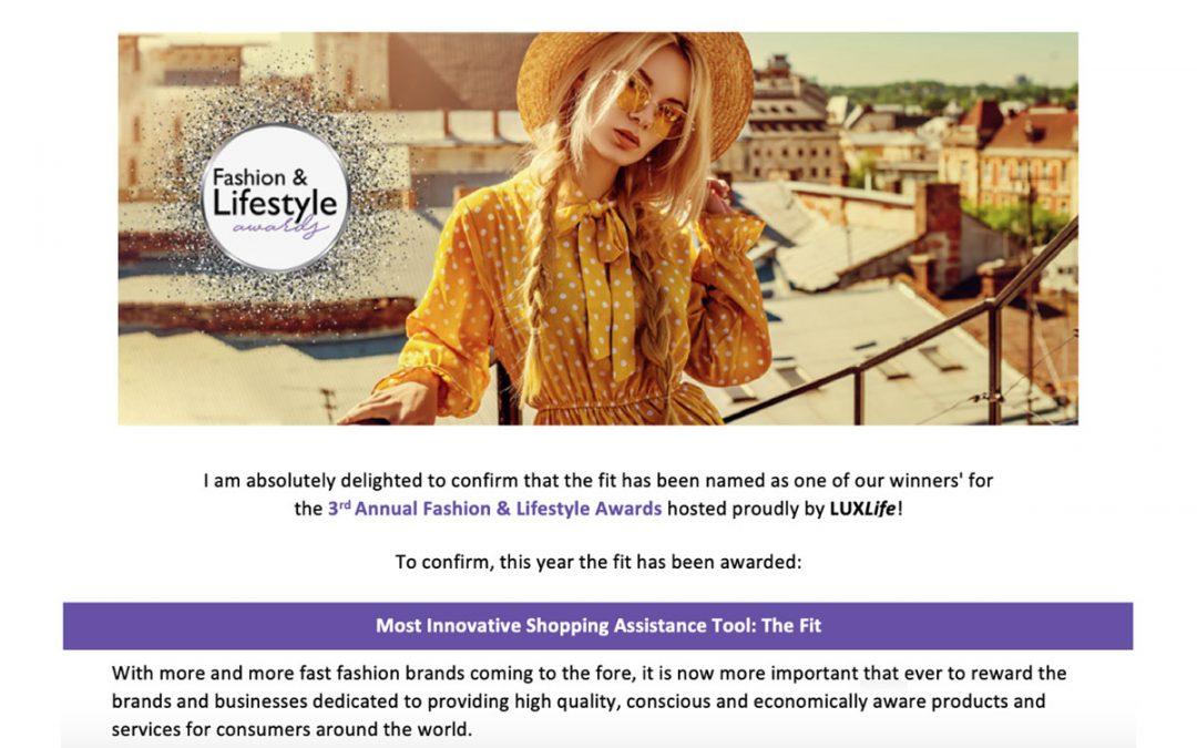 Lux Life Magazines Fashion & Lifestyle award
